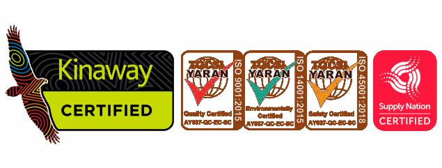 Agile Group Certifications Image | Kinaway | TQCSI Yaran | Supply Nation Certified